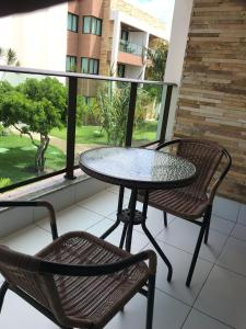 A balcony or terrace at Apartamento Iloa Resort