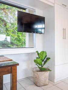 A television and/or entertainment center at The Eleven