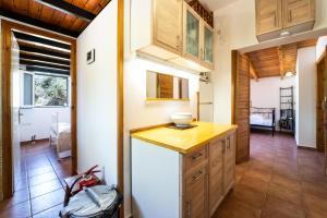 A kitchen or kitchenette at Mondo Cosseri Kefalonia Villa Rossa
