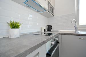 A kitchen or kitchenette at Apartments Piazza