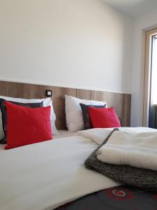 Postelja oz. postelje v sobi nastanitve Vila Mojca - Apartments Lena