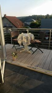 A balcony or terrace at Studio am Waldrand