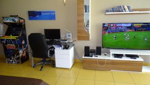 A television and/or entertainment centre at Algarve Flat