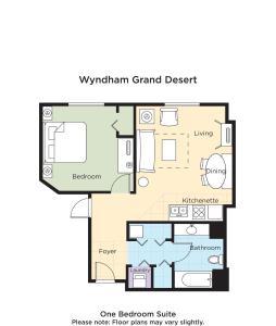 The floor plan of Wyndham Grand Desert