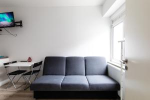 A seating area at Flat in the heart of Antwerp Centrum