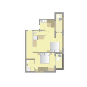 The floor plan of ApartHotel Holzerhof