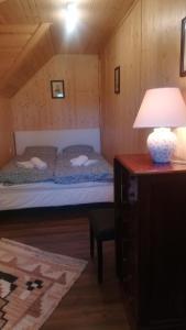 Postelja oz. postelje v sobi nastanitve Holiday house Gorjuše-Pokljuka Bohinj