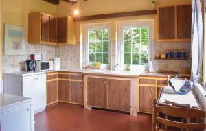 Cuisine ou kitchenette dans l'établissement Holiday Home Champignolles II