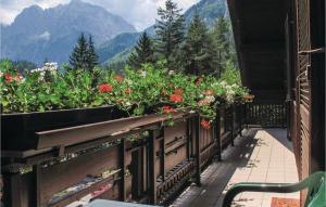 Balkon oz. terasa v nastanitvi Three-Bedroom Apartment in Kranjska Gora