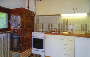 A kitchen or kitchenette at Two-Bedroom Apartment in Smartno pri Sl.Gradcu