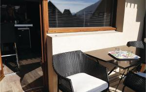 Balcon ou terrasse dans l'établissement 0-Bedroom Apartment in S.Pierre de Chartreuse