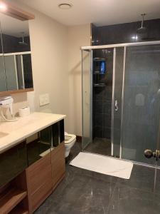 A bathroom at DEMİR PALACE HOTEL