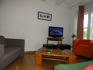 A television and/or entertainment center at Gary loving apartment