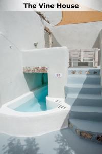 A bathroom at Mesana Stone Houses