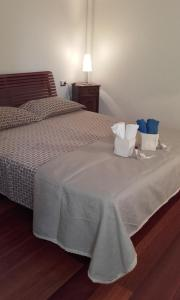 A bed or beds in a room at Appartamento Ca' Zorzi