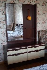 A bed or beds in a room at Pension Sonnenblume