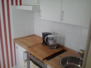 A kitchen or kitchenette at Apartment Schönefeld