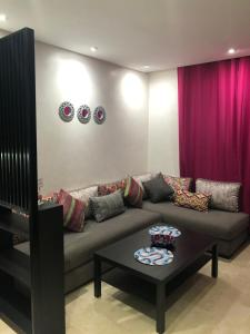 A seating area at Lina Maarif Studio