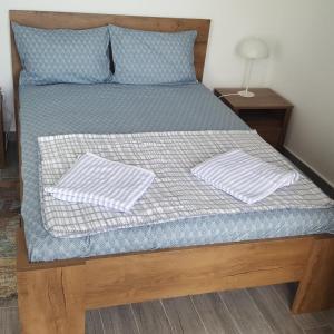 Un pat sau paturi într-o cameră la TREASURE Neptun