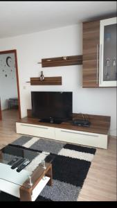 A television and/or entertainment center at Ferienwohnung Schwarzwald