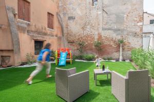 Children's play area at Corte dei Santi