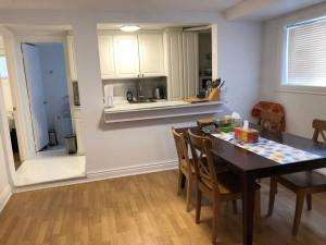 A kitchen or kitchenette at Luxury Private Apartment with Herbal and Organic theme, Free Parking and Light Breakfast, on Montreal island near downtown, direct 24/7 public transit direct to Downtown