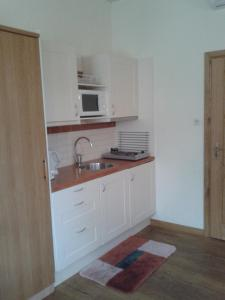 Cuisine ou kitchenette dans l'établissement Bij De Vuurtoren