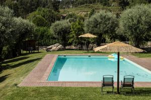The swimming pool at or near Quinta Do Meira