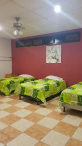 A bed or beds in a room at Ecogreen Aparthotel
