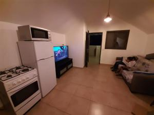 A television and/or entertainment center at הצימר של נצח