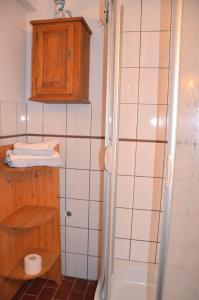 Ein Badezimmer in der Unterkunft Quartier am Brunnen