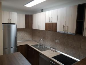 A kitchen or kitchenette at Vilotic group, Apartman 3