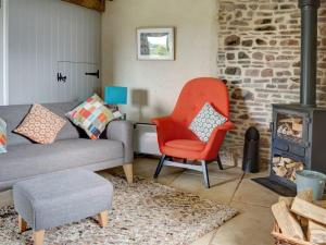 A seating area at Lavendrye Barn
