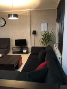 A seating area at Modern ,cozy and quite apartment near city center