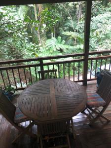 A balcony or terrace at janbal retreat