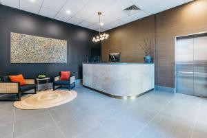 The lobby or reception area at Gabba Central Apartments