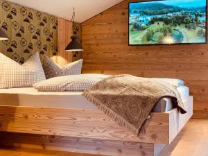 Postelja oz. postelje v sobi nastanitve Bergleben