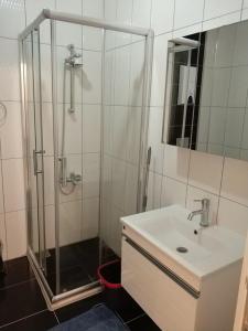 Ванная комната в Oba Suites
