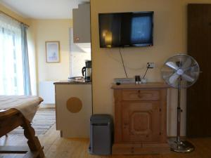 A television and/or entertainment center at Haus Daheim