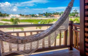 A balcony or terrace at Villa das Palmeiras