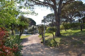 A garden outside Le domaine de Villepey