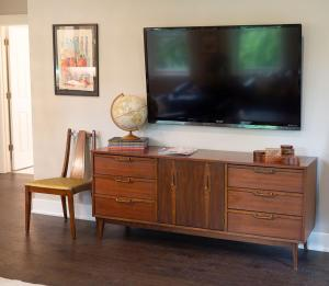 A television and/or entertainment center at The Henry Carriage House
