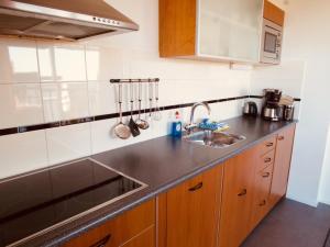 Ett kök eller pentry på De Strandloper