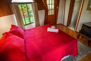 Cama ou camas em um quarto em Hare Paoa