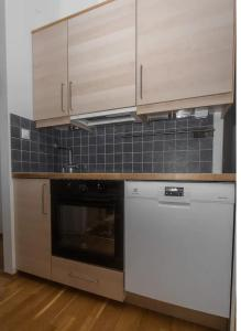 A kitchen or kitchenette at Stayplus 1BR Smart, comfy apt by OsloMet University