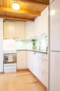 A kitchen or kitchenette at Chic apartment in trendy Kallio with private sauna