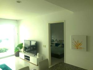 A television and/or entertainment center at Morros Suites Apartamentos