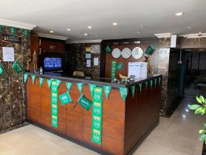 The lobby or reception area at Alshaheen Suites