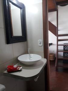 Een badkamer bij Casa Shuhari