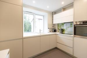 Virtuve vai virtuves aprīkojums naktsmītnē City center Gauja apartment